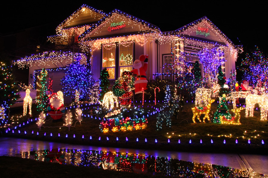 Beautiful Christmas lights display.